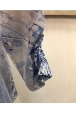 3/4 Sleeve V-Neck Print Top