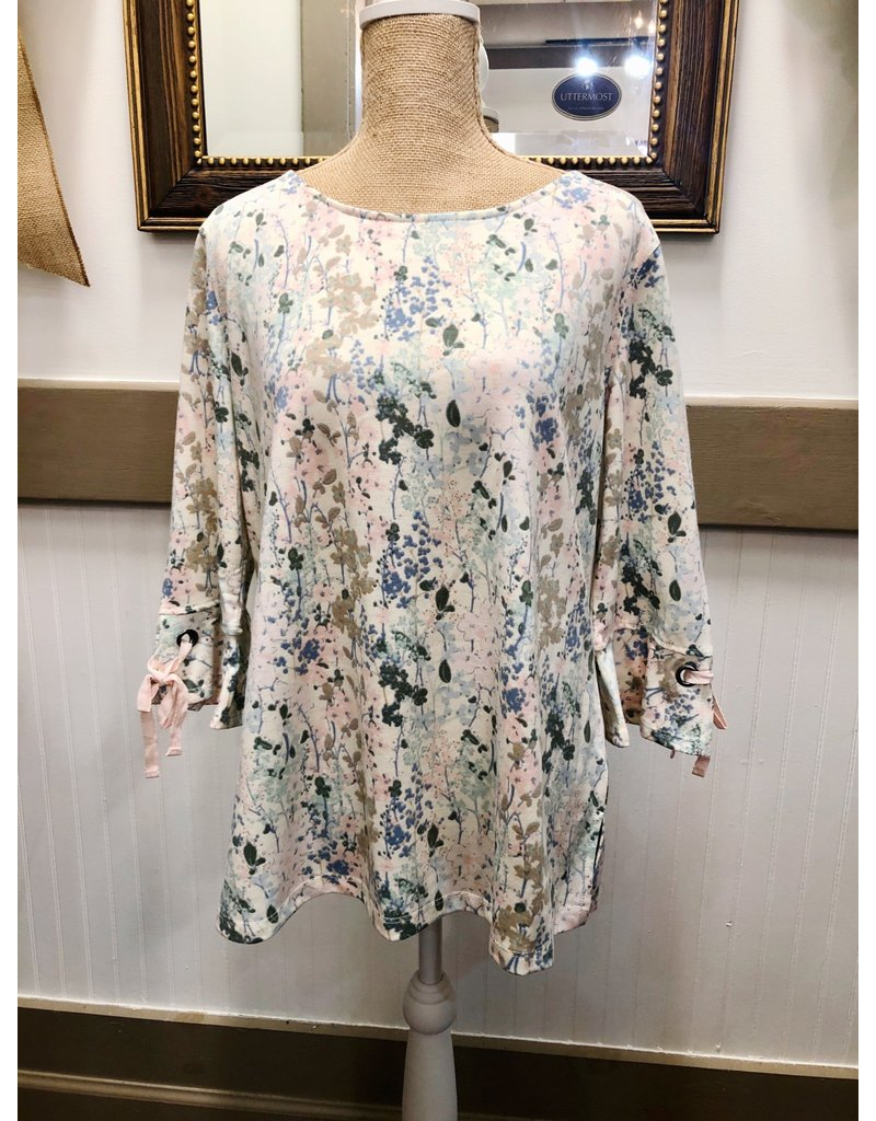 3/4 Sleeve French Terry Tunic