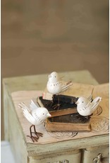 Petite Perch White Bird