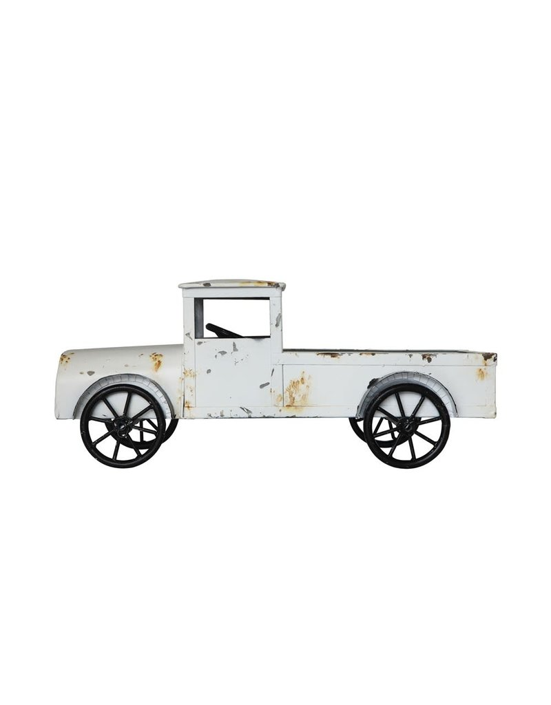 Metal Truck Distressed White