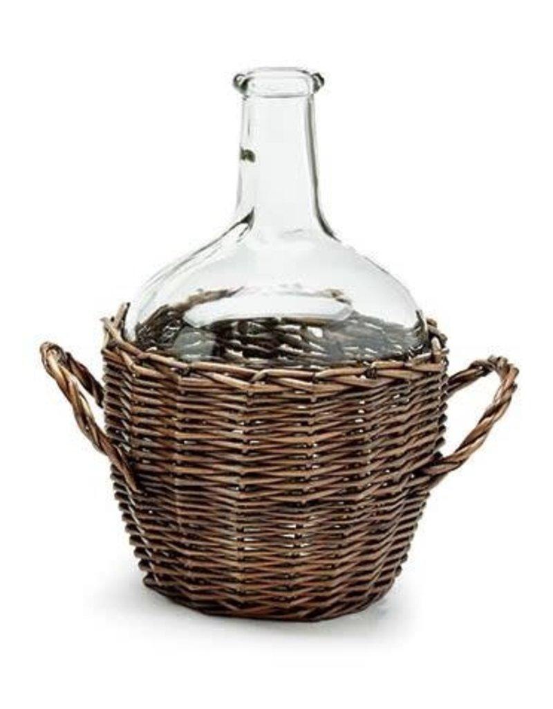Burton & Burton Asst. Glass Jug w/ Willow Basket