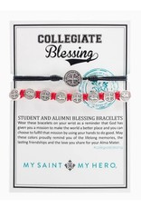 My Saint My Hero Collegiate Student Black Silver  & Red Silver