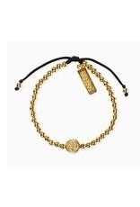 My Saint My Hero Mantra Of Love Bracelet Gold/BLK