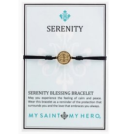 My Saint My Hero Serenity Blessing Bracelets Gold Blk