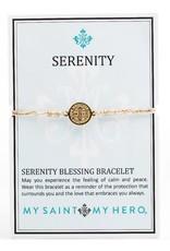 My Saint My Hero Serenity Blessing Bracelets Metallic Gold/Gold