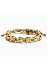 My Saint My Hero Benedictine Blessing Bracelet Gold