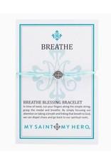My Saint My Hero Breathe Blessing Bracelet Mint/Silver