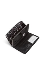 Vera Bradley Iconic RFID Turnlock Wallet Black
