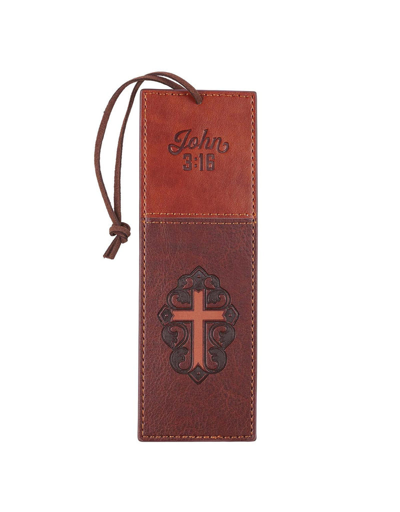 Christian Art Gifts Page Marker Brown Cross