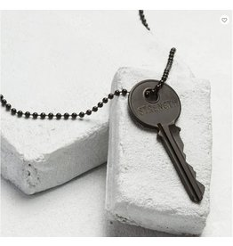 The Giving Keys Pay It Forward Matte Black Key Necklace