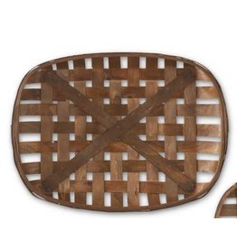K & K Interiors, Inc. Medium Rounded Rectangular Tobacco Basket