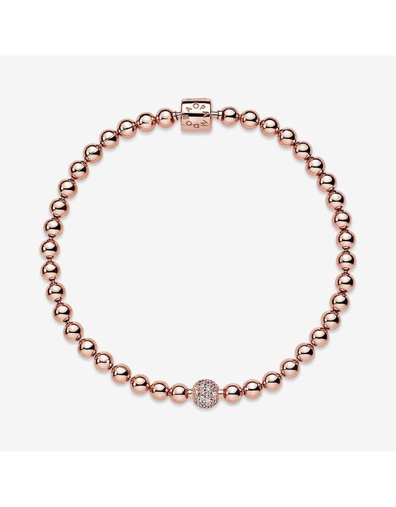 Pandora Jewelry Beads & Pave Rose Bracelet, Clear CZ