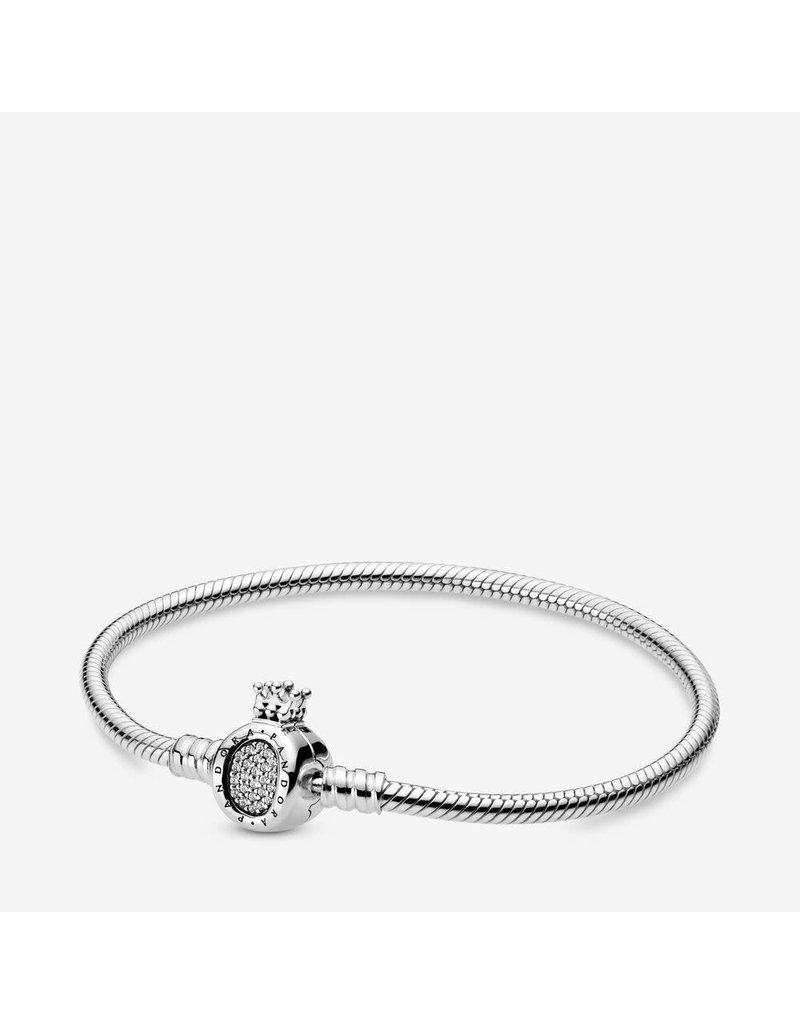 Pandora Jewelry Pandora Moments Crown O Bracelet, Clear CZ