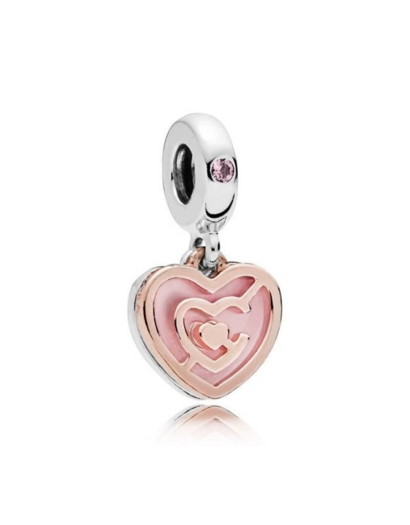 Pandora Jewelry Dangle Path to Love Rose Gold