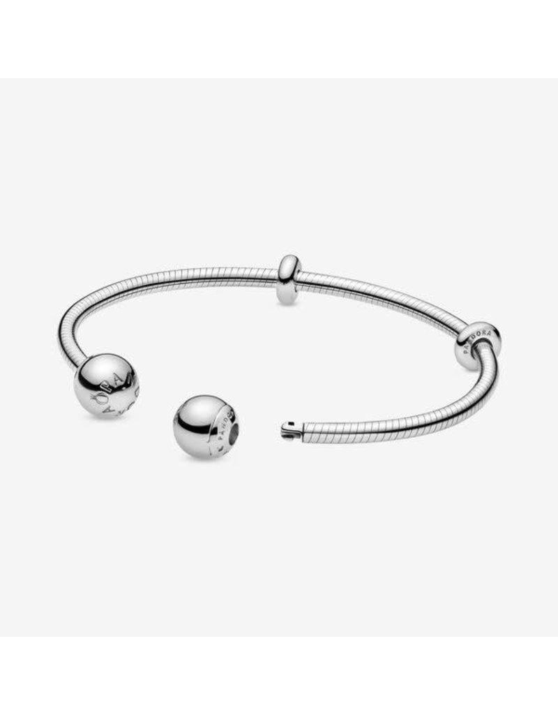 Pandora Jewelry Snake Chain Style Open Bangle