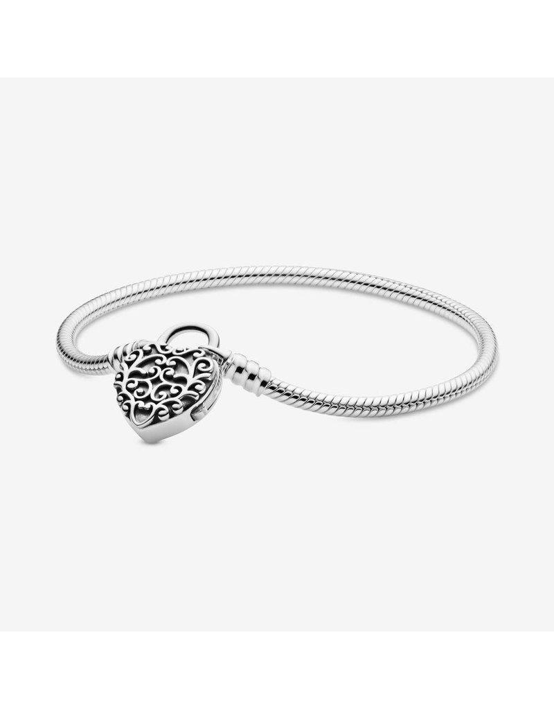 Pandora Jewelry Regal Heart Padlock Bracelet