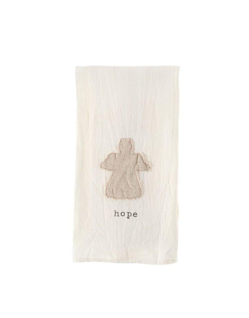 Mud Pie Hope Angel Tea Towel