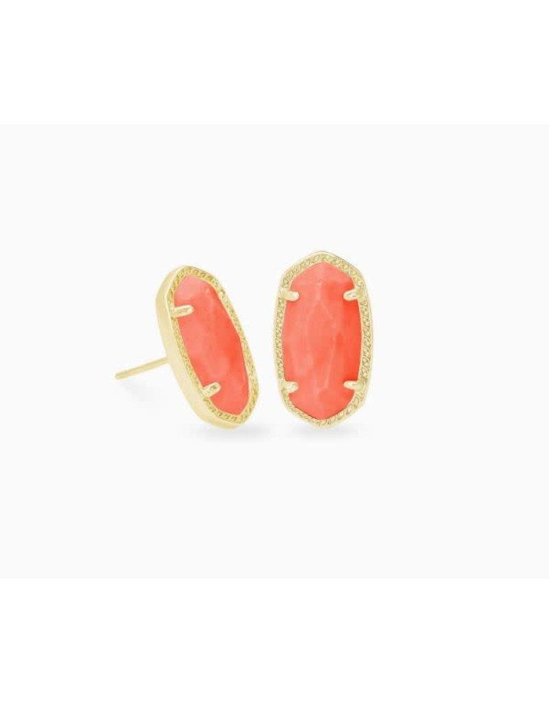 Kendra Scott Ellie Earring Gold Bright Coral