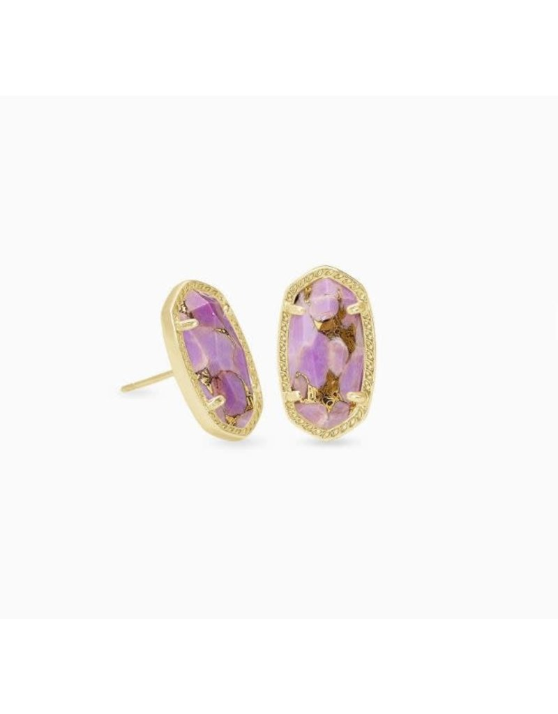 Kendra Scott Ellie Earring Gold Bronze Veined Lilac