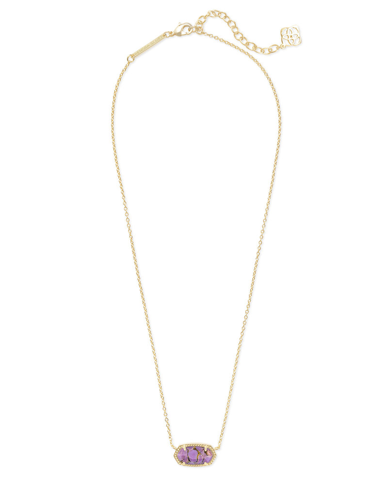 Kendra Scott Elisa Necklace Gold Bronze Veined Lilac