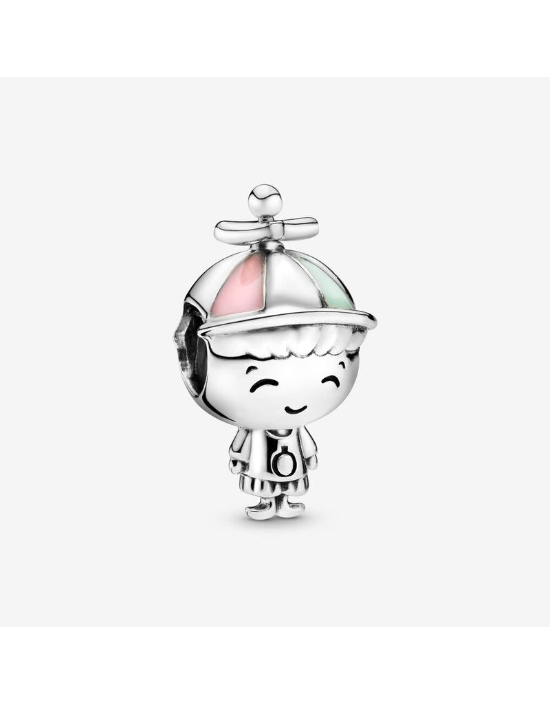 Pandora Jewelry Propeller Hat Boy Charm, Mixed Enamel