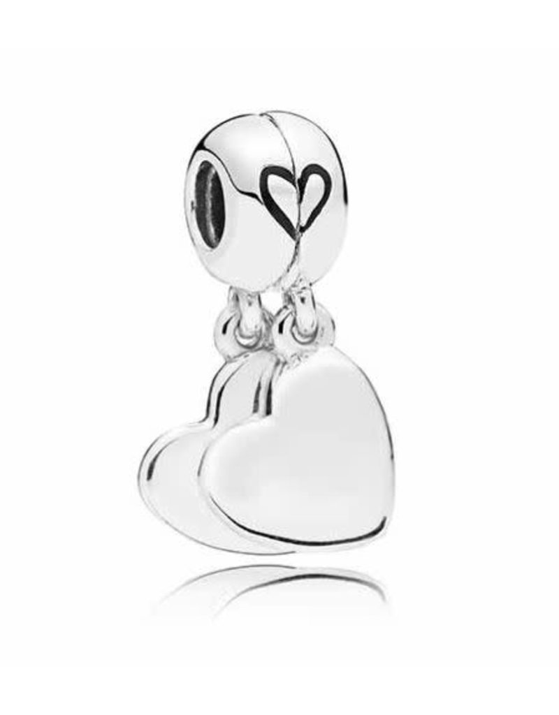 Pandora Jewelry Mother & Son Love Dangle Charm, Black Enamel