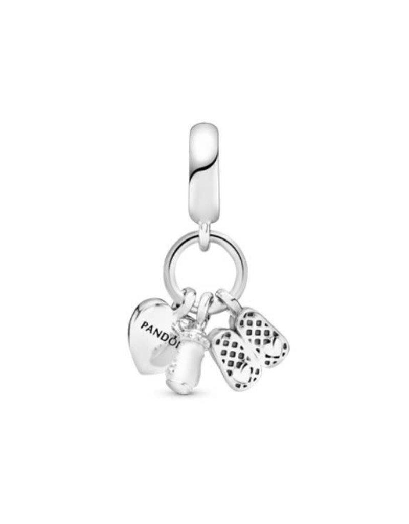 Pandora Jewelry My Little Baby Dangle Charm, White Enamel & Clear CZ
