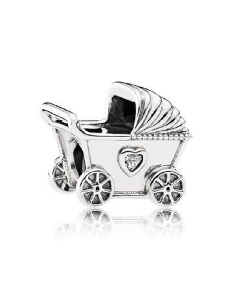 Pandora Jewelry Baby Pram Charm, Clear CZ
