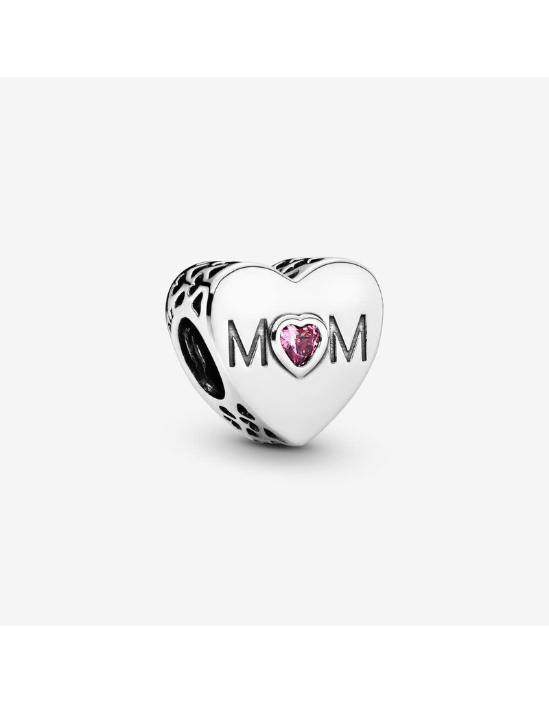 Pandora Jewelry Mother Heart Charm, Pink CZ
