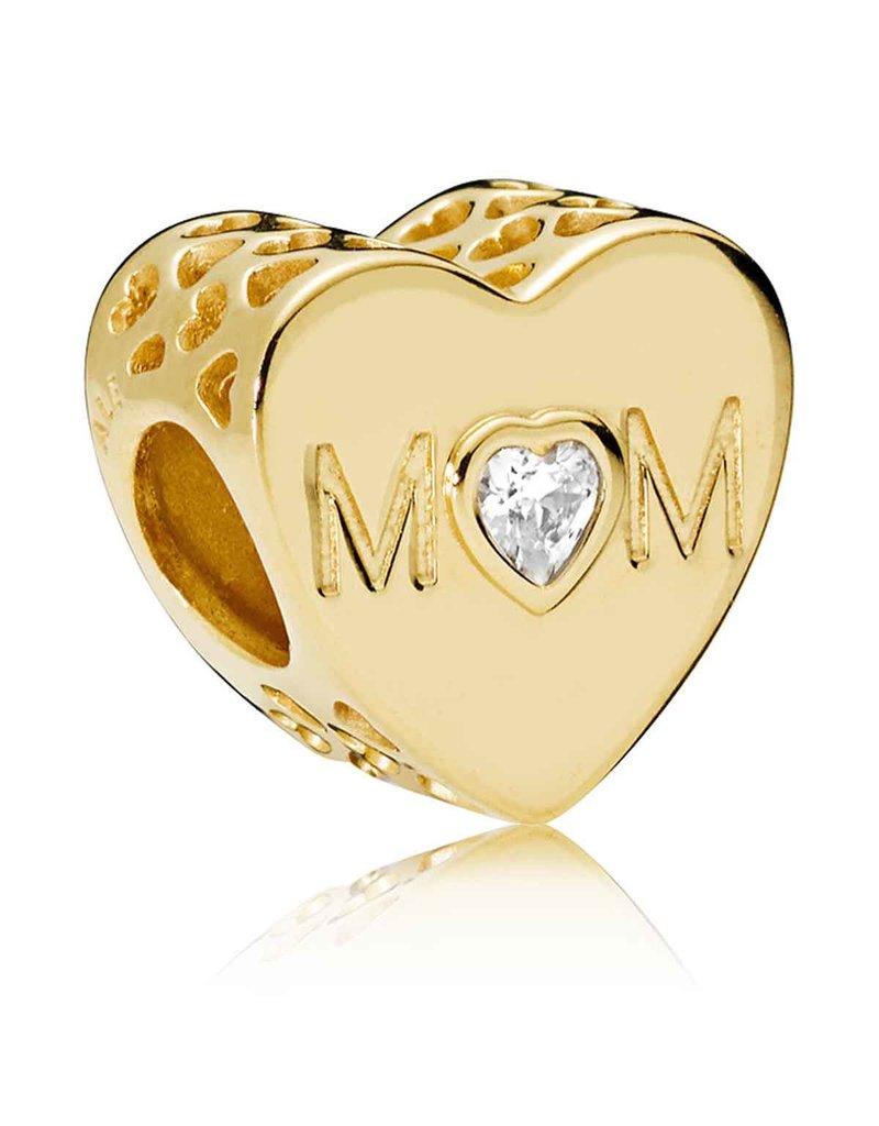 Pandora Jewelry Shine Mother Heart Charm, Clear CZ