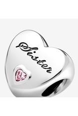Pandora Jewelry Sister's Love Charm, Pink CZ