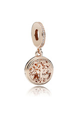 Pandora Jewelry Rose Family Roots Dangle Charm, Clear CZ