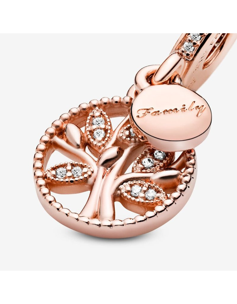 Pandora Jewelry Rose Family Heritage Dangle Charm, Clear CZ