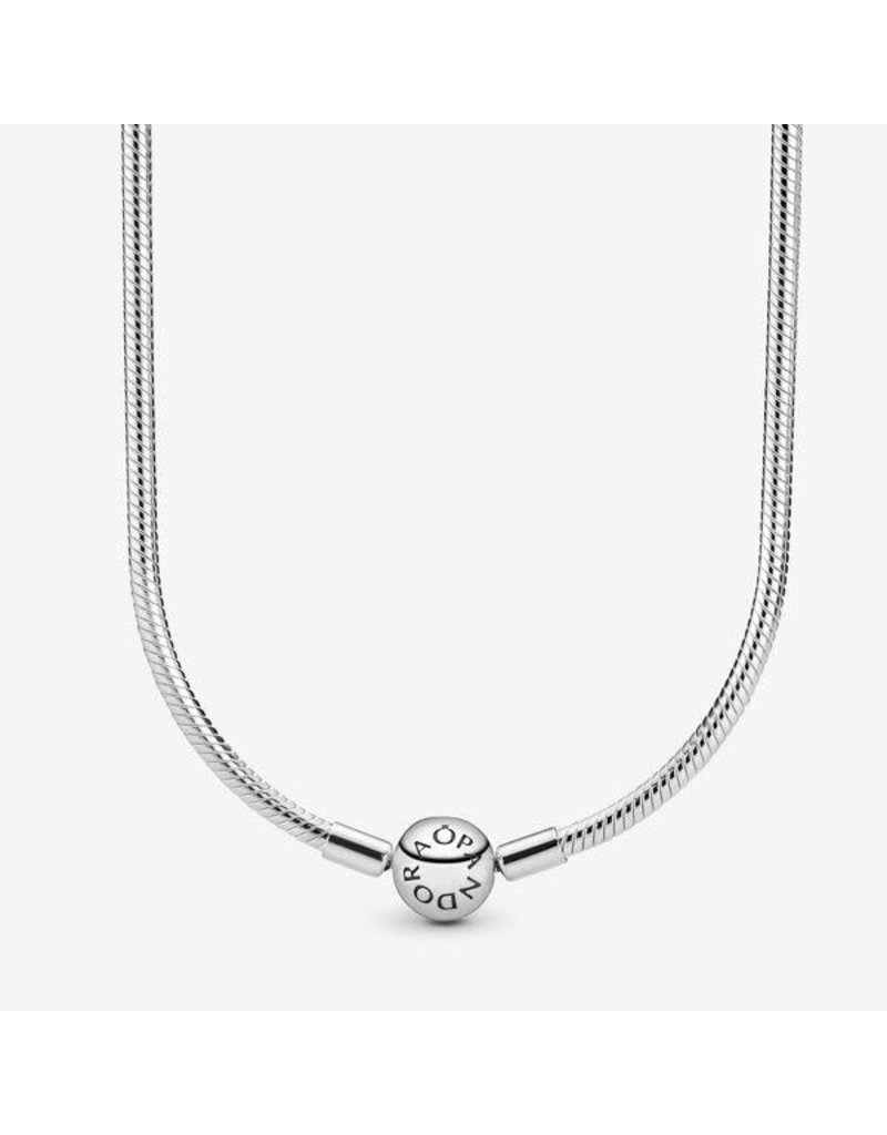 Pandora Jewelry Smooth Signature Clasp Charm Necklace