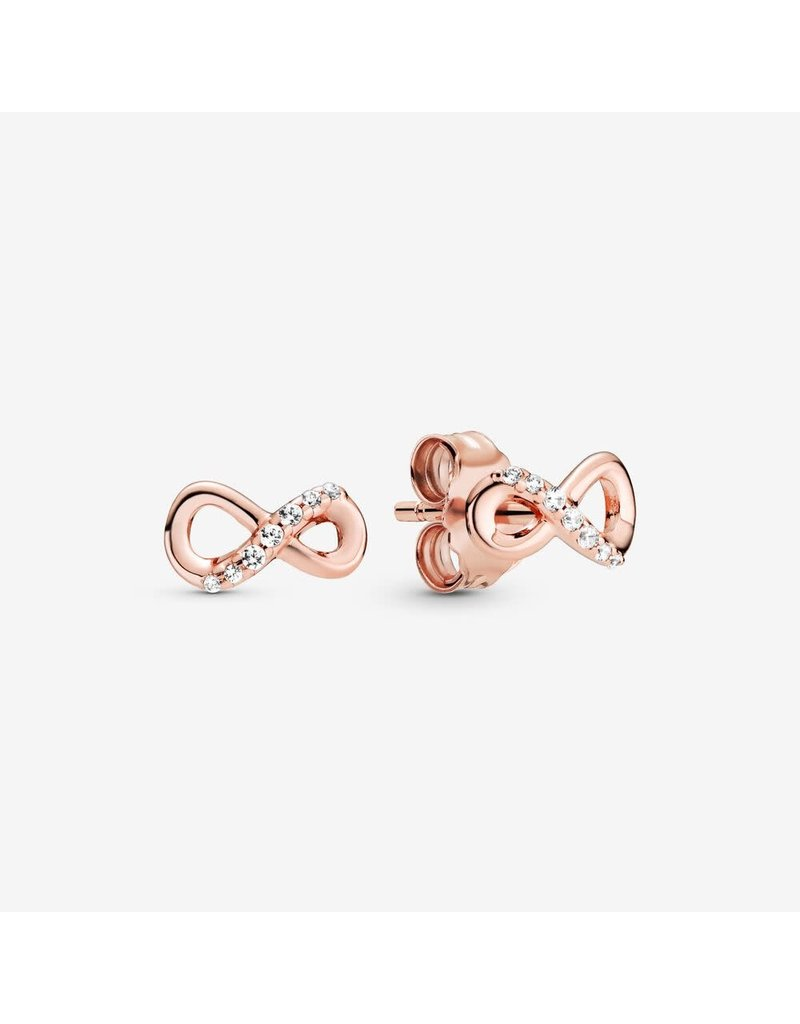 Pandora Jewelry Earring ROSE Sparkling Infinity, Clear CZ