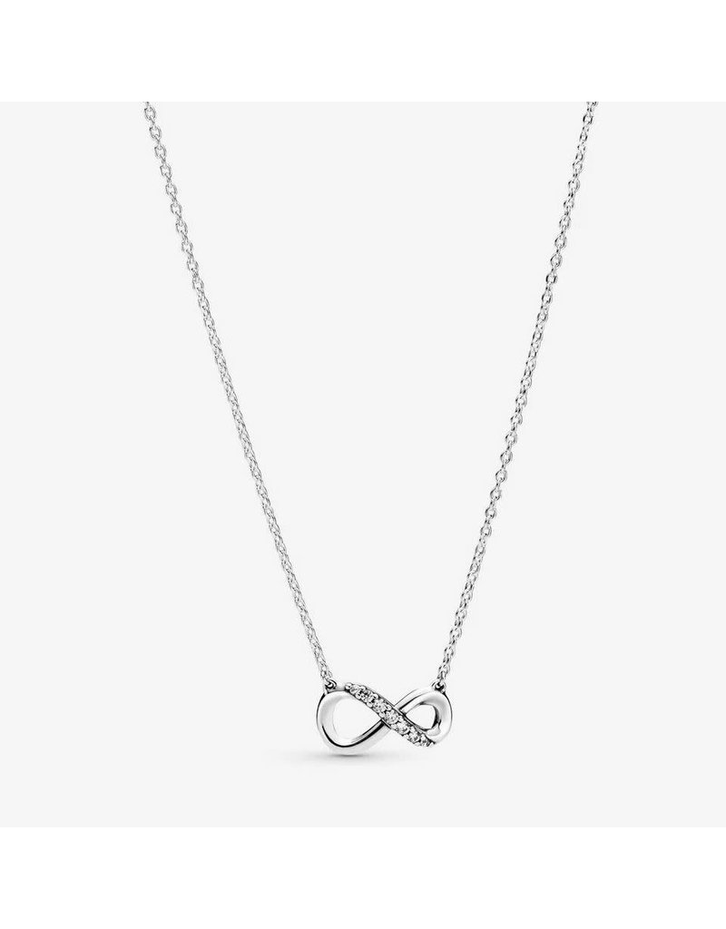 Pandora Jewelry Sparkling Infinity Necklace, Clear CZ
