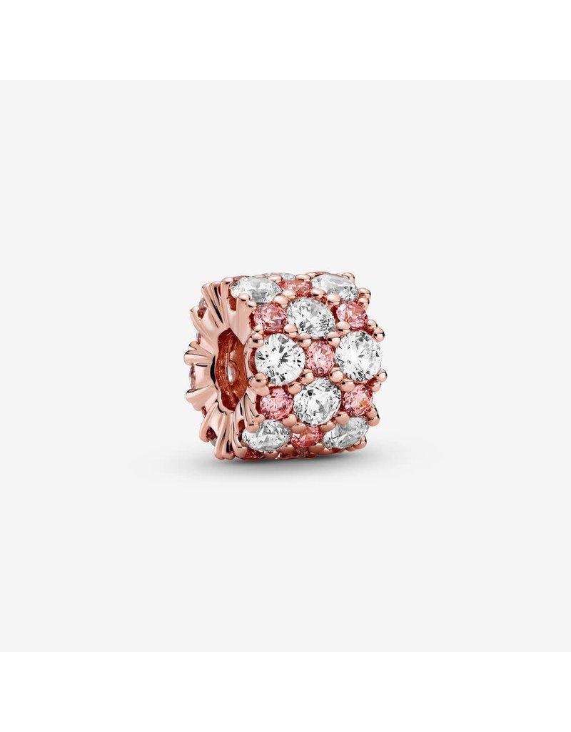 Pandora Jewelry Pandora Rose Pink & Clear Sparkle Charm, Pink & Clear CZ