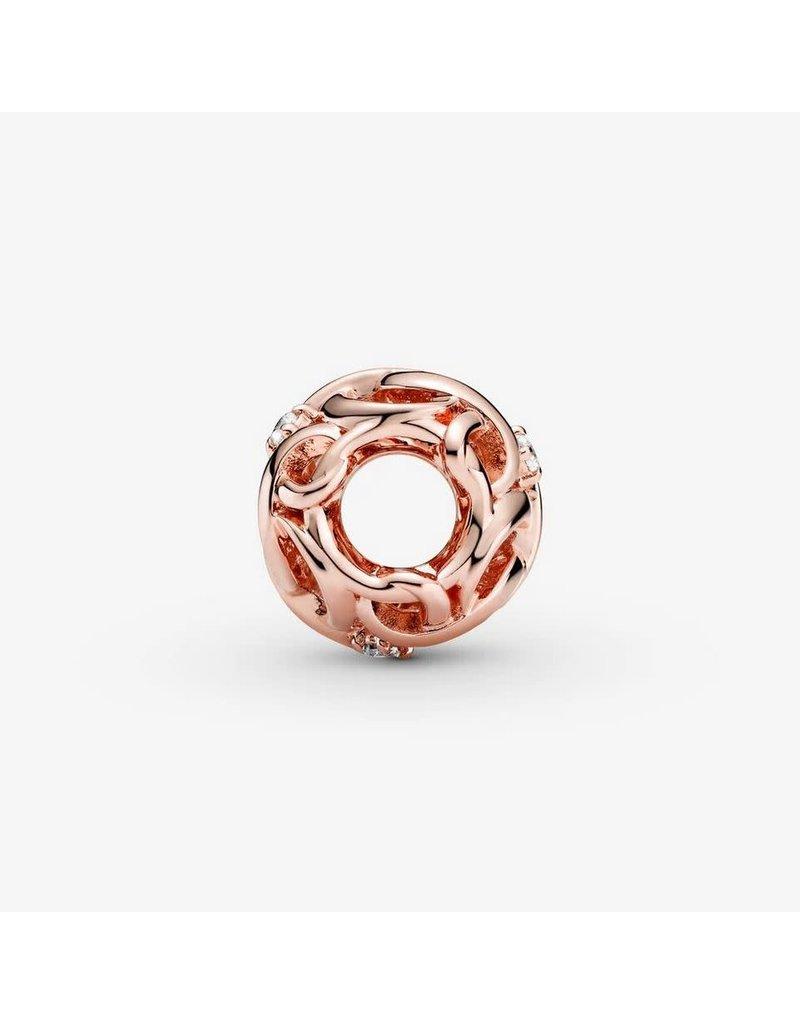 Pandora Jewelry Pandora Rose Openwork Woven Infinity Charm, Clear CZ