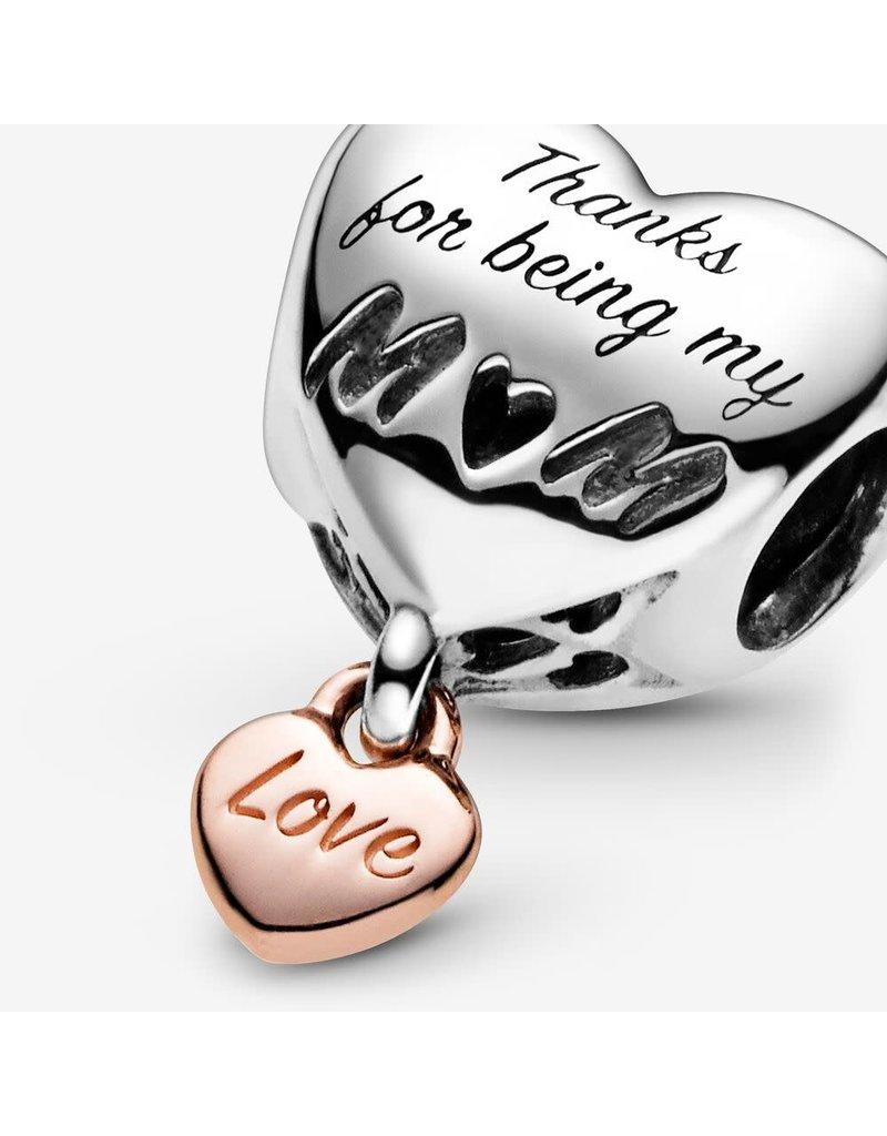 Pandora Jewelry Love You Mom Heart Charm