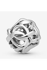 Pandora Jewelry Openwork Woven Infinity Charm, Clear CZ