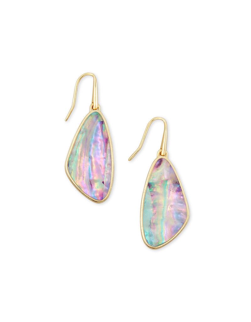 Kendra Scott Mckenna Small Drop Earring Gold Lilac Abalone