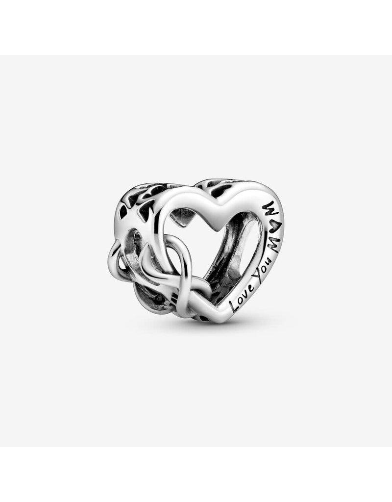 Pandora Jewelry Love You Mom Infinity Heart Charm