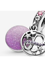 Pandora Jewelry Glittering Infinity Hearts & Stars Dangle Charm, Pink Crystals, Mixed Enamel & Clear CZ