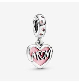 Pandora Jewelry Mom Script Heart Dangle Charm