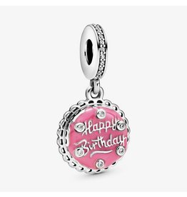 Pandora Jewelry Pink Birthday Cake Dangle Charm