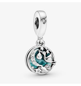 Pandora Jewelry Stork & Twinkling Stars Dangle Charm