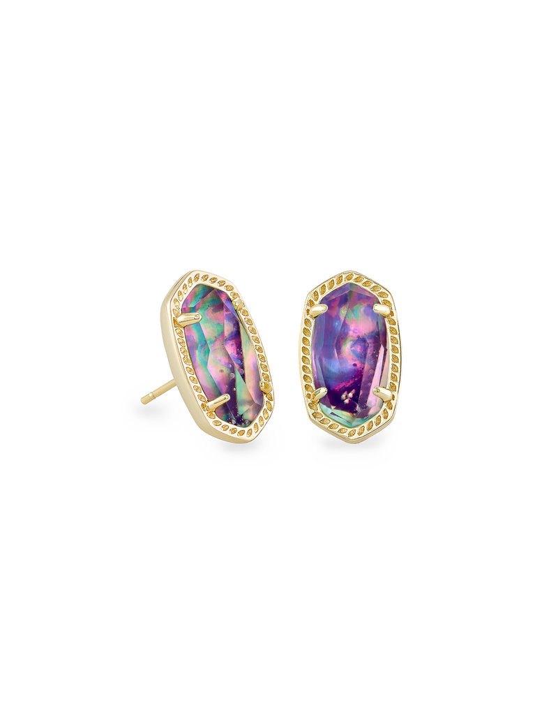 Kendra Scott Ellie Earring Gold Lilac Abalone