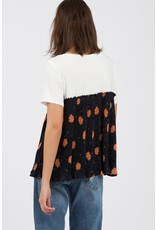 Short Sleeve Top With Smock Detail