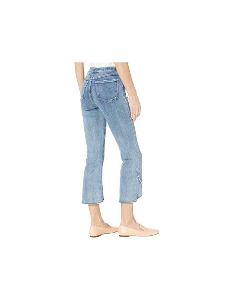 French Dressing Jeans Pull On Flare Crop Pant With Fringe