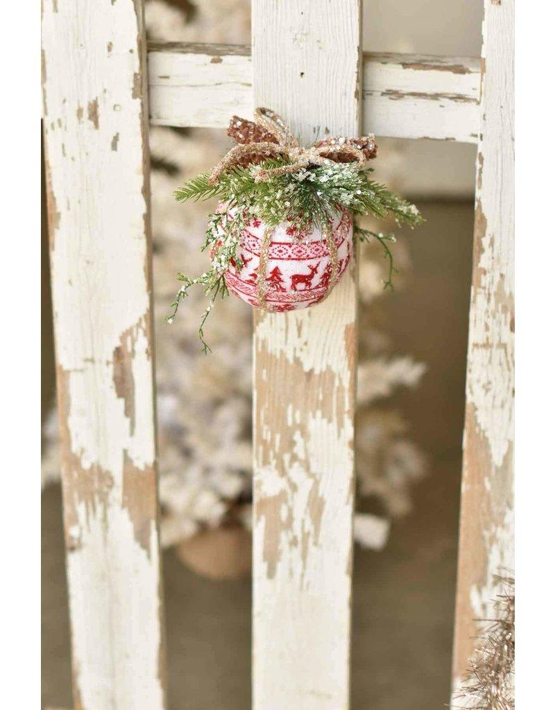 Pine & Plaid Ornament Red